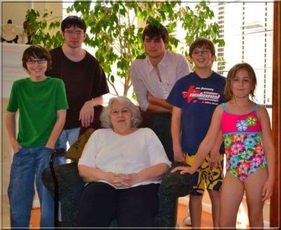 Linda Beresford and grandchildren