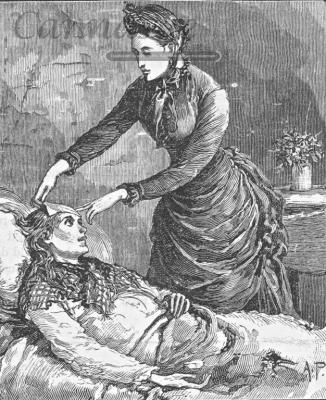 woman caring for sick