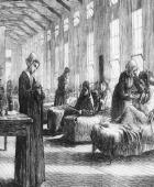 women tending to sick